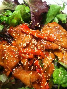 Asian Barbecue Seitan Salad - Pescetarian Journal