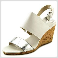 905f9fb2dd8dd0 Calvin Klein Bibbi Women Open Toe Leather Wedge Sandal    Discover this  special product