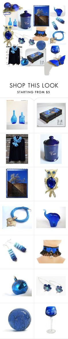 """""""Cobalt Blues"""" by anna-recycle ❤ liked on Polyvore featuring Jelly Belly"""
