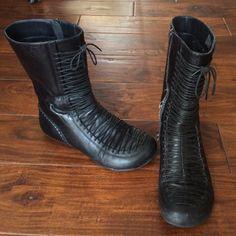 """Selling this """"Miz Mooz lace up black ankle boots"""" in my Poshmark closet! My username is: acapr220. #shopmycloset #poshmark #fashion #shopping #style #forsale #Miz Mooz #Shoes"""