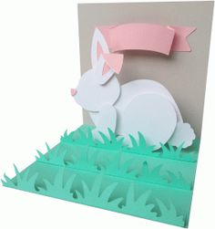 Silhouette Design Store - View Design #76686: pop up rabbit or bunny card