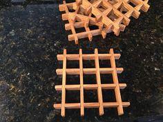 "Hand made 6"" square oak trivet Oak Lumber, Lathe, Solid Oak, Safe Food, Mystery, Wood, Pattern, Handmade, Hand Made"