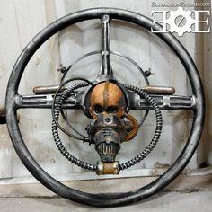 WITNESS!!! Mad Max Fury Road! War Boy steering wheel