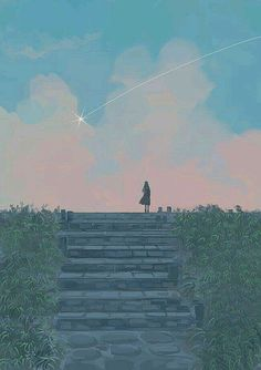 Girl looking at falling star illustration Star Illustration, Autumn Illustration, Art Anime, Anime Kunst, Aesthetic Anime, Aesthetic Art, Pixel Gif, Fall Drawings, Posca Art