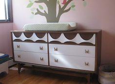 Painted mid century modern furniture