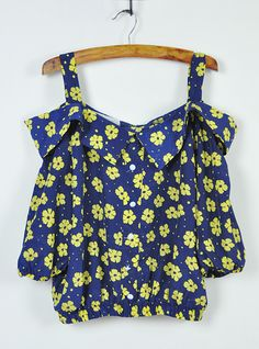 Blue Flowers Strapless Chiffon Shirt$36!  All blouses are 20% off now, code: blouse20 !  http://www.udobuy.com/category-37-b0.html