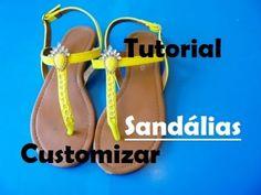 Sandálias Decoradas Customizadas Tutorial - YouTube