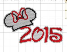 Minnie Mouse 2015 Disney with Hat Outline by LauraBethDesignsLLC