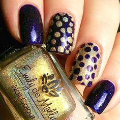 I love everything about this mani by @madhattermh- bubbles, gold, purple. Just fun!  - Bubble Nail Stencils  snailvinyls.com