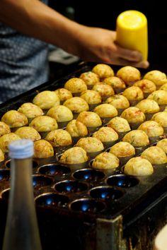 Making TAKOYAKI (Fried Octopus Balls)|たこ焼き  #food #japan