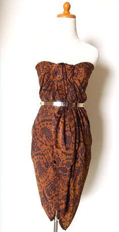 Indonesian Batik Dress, Long Skirt, Beach Wear, Multifunction from SOKA