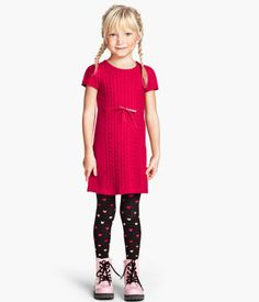 Really affordable knit dress at H&M paired with cute accessories. Can never resist a kid in Docs.