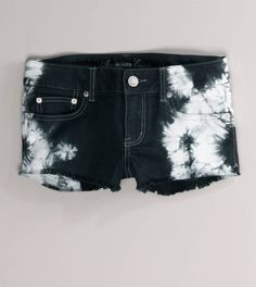 AE Tie-Dyed Denim Shortie.. just died when i saw these