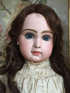 Very beautiful fully marked BeBe Jumeau size 15. She is 32 ( 82 cm tall). Her bisque head is free of hairlines, chips, repairs. Most beautiful facial