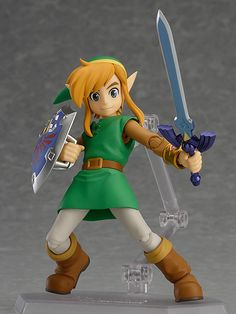 From the popular game 'The Legend of Zelda: A Link Between Worlds' comes a figma of Link!The figure from Good Smile Company's amazing figma series stands approx. 11 cm tall and comes with accessories and figure stand. The Legend Of Zelda, Buddy The Elf Meme, Anime Figures, Action Figures, Wii, Monster High Boys, Anime Store, Master Sword, Mode Shop