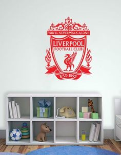 Liverpool FC Badge Wall Decal Art Stickers Football Club Sport Bedroom Mural