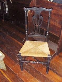 transitional Queen Anne/Chippendale side chair from New England.