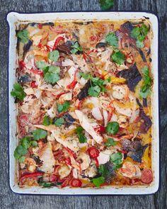 Tray Baked Keralan Fish Curry Jamie Oliver (use PALEO friendly oil)