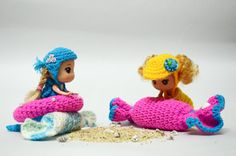 Crochet mermaid swimsuit Mermaid tail Little by PinkishMomKnitting