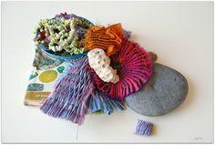 Naturally dyed silk using brazilwood, eucalpytus, indigo, goldenrod