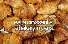 Art love croissants. bucket-list