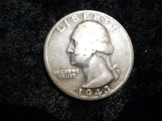 1943s Washington Quarter F12 by CheatumsBargains on Etsy, $8.00