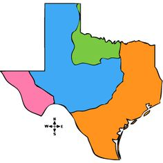 outline map, Natural Features of Texas | Social Studies ...