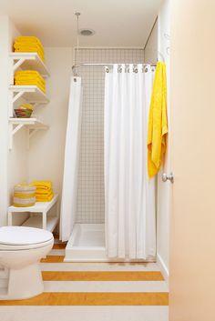great idea for a small bathroom
