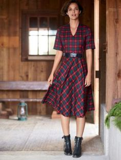 AUDREY PLAID DRESS by Pendleton