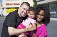 Gorgeous interracial couple & their precious daughter #love #wmbw #bwwm
