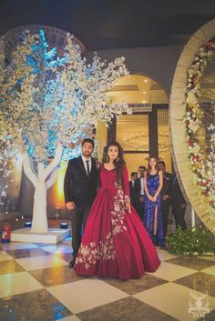 The Bridal Fashion Week for 2020 has come and gone, and it did not disappoint. Engagement Dress For Bride, Engagement Gowns, Engagement Ideas, Engagement Rings, Indian Wedding Gowns, Indian Gowns Dresses, Indian Bridal, Pakistani Bridal, Wedding Lehnga