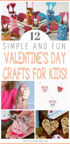 You will love these easy and fun Valentine's Day crafts for kids. Get inspired for Valentine's Day with a craft for everyone in the family that the kids will love doing. #valentinesday #craftsforkids