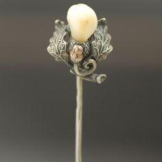 elk tooth stick pin
