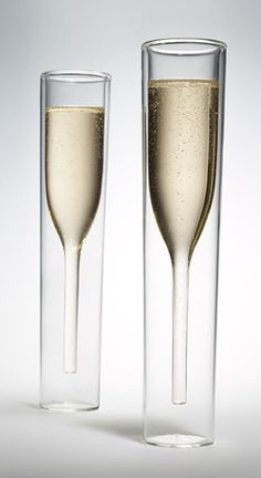 Inside Out Champagne Glasses / Alissia Melka