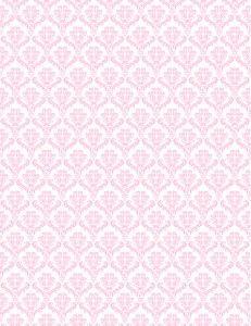Printable Pink and White Damask Pattern