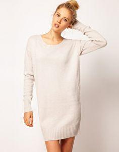 Enlarge ASOS Woven Back Sweater Dress