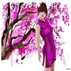 Diosaharu Adamski: LAMUFASHION   Outfit: DressFiore di Luna FuchsiaMo...