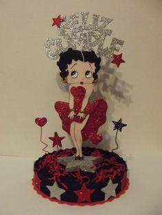 Adorno De Torta Betty Boop En Goma Eva (Adornos para Tortas) a ARS 69.9  .de 23 x 20cm