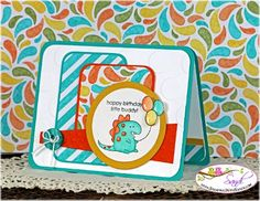Stampin Up Little Buddy Birthday for Mojo393, card by Sandi @ www.stampinwithsandi.com