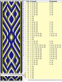 20 tarjetas, 3 colores, repite cada 40 movimientos // sed_976 diseñado en GTT༺❁