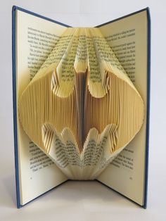 Folded Book Art Batman anniversary birthday by blankpagebookart