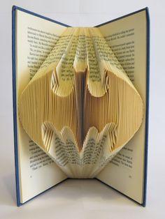 Folded Book Art Batman anniversary birthday by blankpagebookart