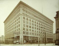 The Ellicott Square building was the biggest office building in the world (Square footage) when it was built in 1896.