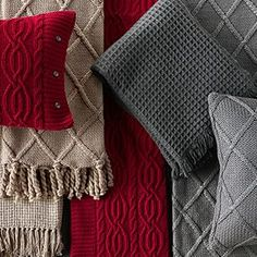 Wool & Cashmere Waffle Weave Throw