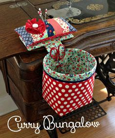 Thread Catcher - Handmade Sew In Style Thread Catcher with Detachable Pincushion