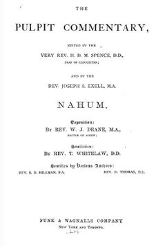 Nahum, The Pulpit Commentary.