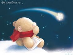 wish upon a falling star. Hello Kitty Christmas, Christmas Wishes, Merry Christmas, Baby Animal Drawings, Cute Drawings, Cold Porcelain Tutorial, Stencil, Teddy Bear Pictures, Blue Nose Friends