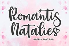 Romantis Natalies is a modern duo font (script and sans serif). It has beautiful and well balanced characters and as... Free Fonts For Cricut, Cricut Fonts, Modern Script Font, Modern Fonts, Writing Fonts, Microsoft Word 2010, Commercial Use Fonts, Stylish Fonts, Character Map