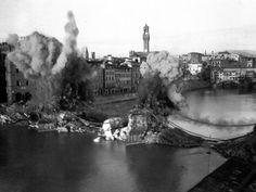 Firenze 3 agosto 1944, quando l'esercito tedesco in ritirata bombardò i ponti sull'Arno.     #TuscanyAgriturismoGiratola
