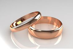 18ct Rose Gold Court Shaped His & Her's Wedding by WGJewellery